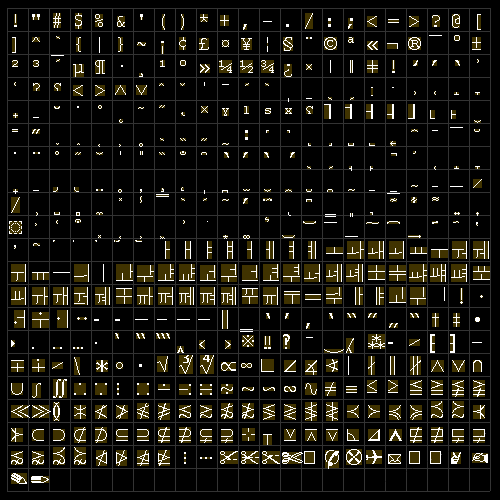 letters spritesheet